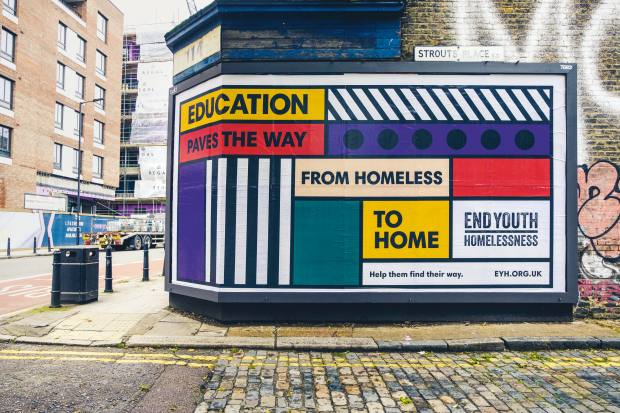 Walala's poster for EndYouth Homelessness