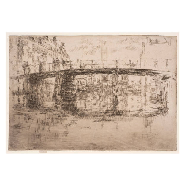 Bridge, Amsterdam, (1th State) ,1889, Etching and drypoint,165 x 241 mm