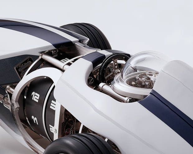 Details abound in features such as the spoked wheels, finely pierced front grille and various polished, sandblasted and satin-finished components