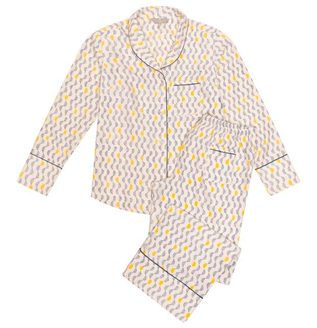 The Ethical Silk Company pyjamas, £220: mulberry silk, produced by extracting silk after the moth has left the cocoon