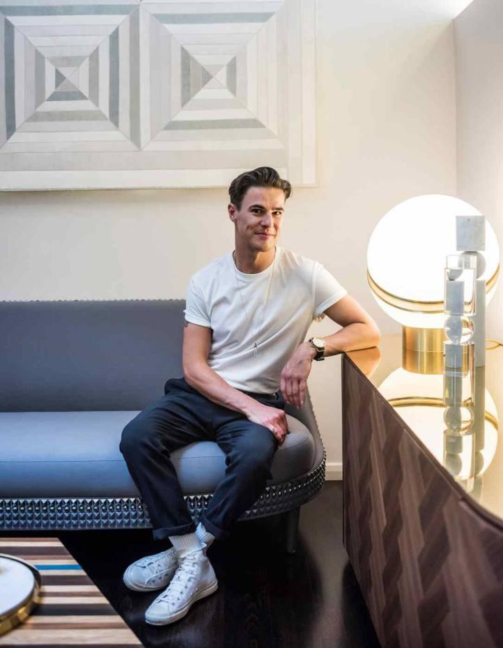 Designer Lee Broom at home