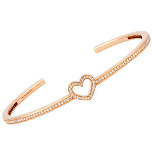 Garrard rose-gold and diamond Chain of Hope heart bangle, £5,800, from 24 Albemarle St, London W1 (0870-871 8888; www.garrard.com). £1,000 from the sale of each bangle will be donated to Chain of Hope (www.chainofhope.org).