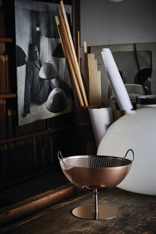 Achille Castiglioni's classic AC04 bowl (£312 each) has a special copper-coated finish in this celebratory edition