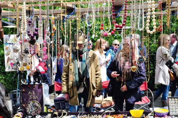 A jewellery stall atPortobello Market