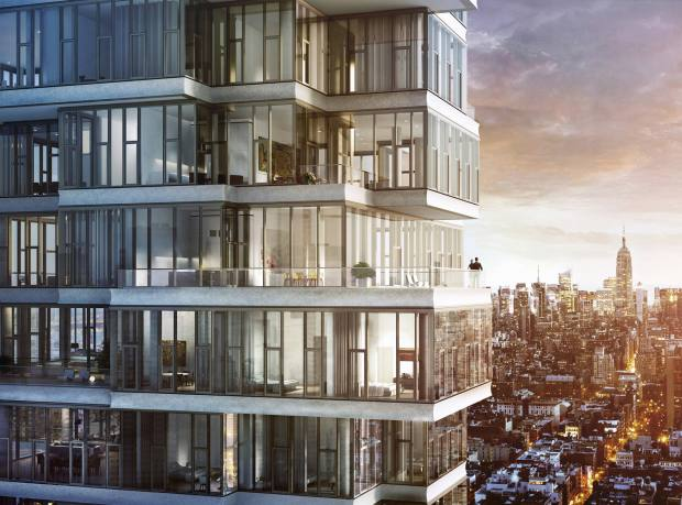 Rendering of 56 Leonard, where the last penthouse is available for $31m