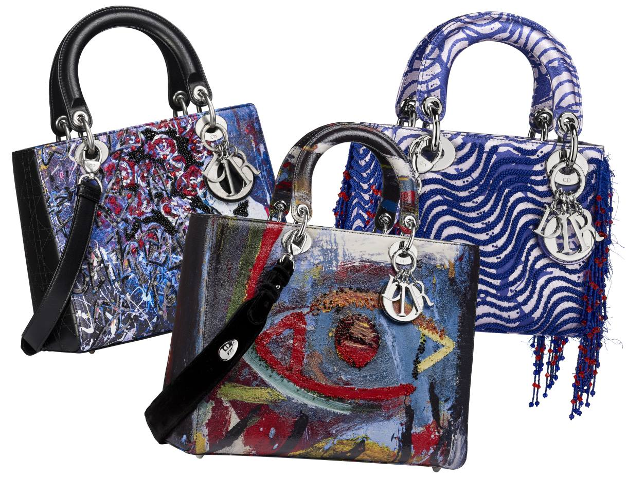 From left  Dior Lady Art  2 by Betty Mariani, Spencer Sweeney and Jamilla 0056d5f165