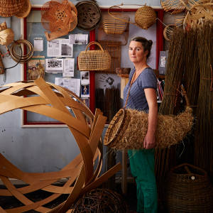 O'Sullivan explores the ancient craft of basketry from a wooden studio in East Sussex