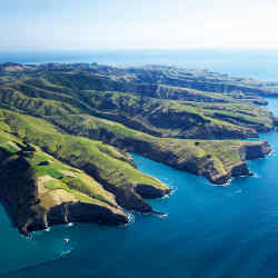 The Banks Peninsula at Canterbury, South Island
