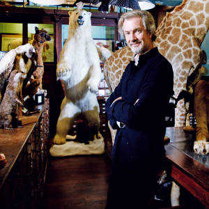 Deyrolle owner Prince Louis Albert de Broglie with the menagerie, which includes a polar bear, €37,000