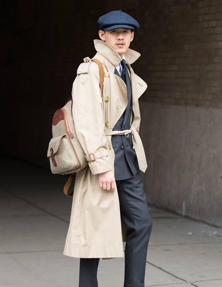 Gurkha twill and saddle leather rucksack, $1,195