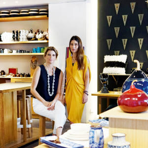 Maria Eladia Hagerman (left), co-founder of Onora,  and her friend and fellow designer Maggie Galton
