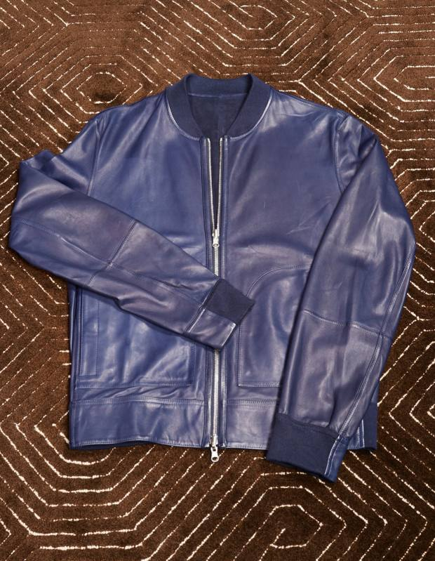 Olivier Reza's Bruno Cucinelli reversible suede and leather jacket