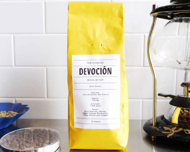 Colombian Devocióncoffee, available on subscription