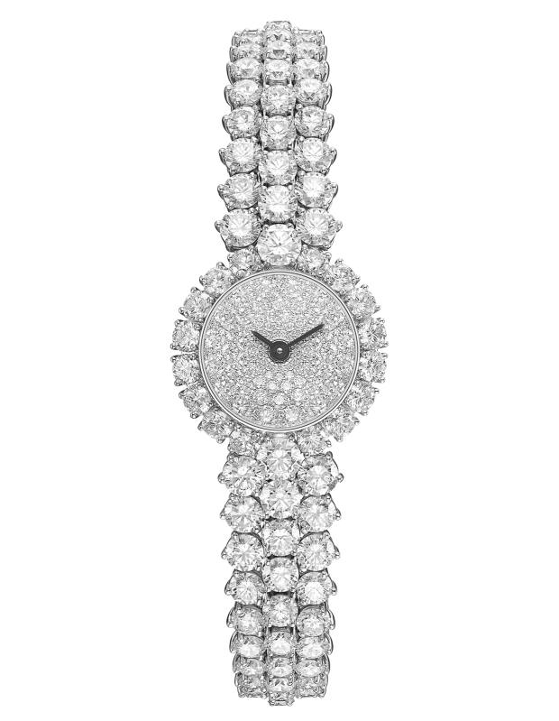 Van Cleef & Arpels platinum, white gold and diamond A Cheval watch, price on request