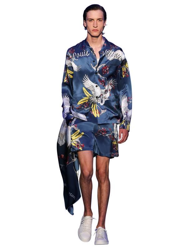 Louis Vuitton silk boxing shorts, £545