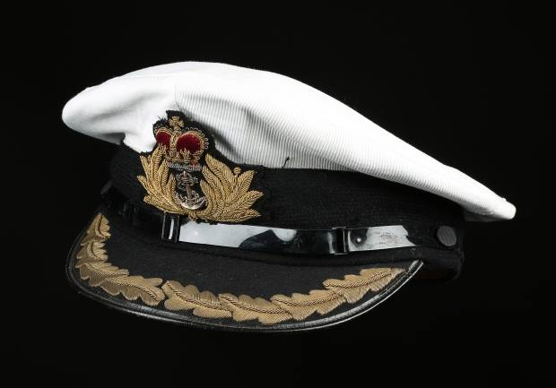 72812304d1c4 The Gieves   Hawkes Royal Navy cap worn by Roger Moore as James Bond in The