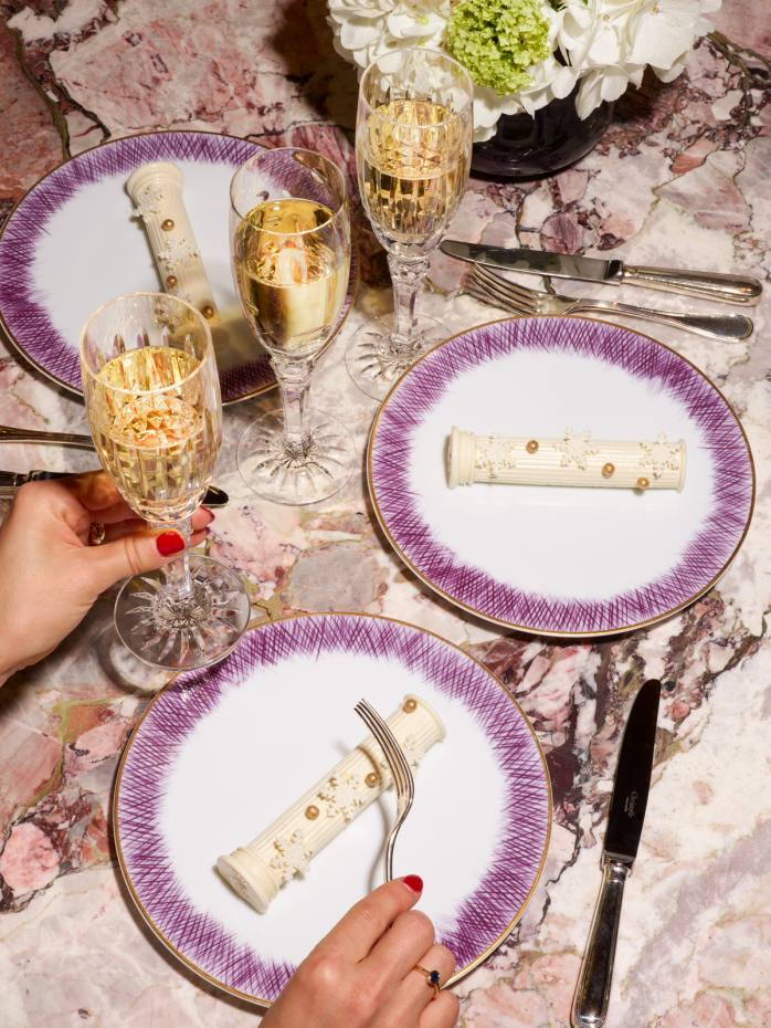 Hôtel Crillon's Christmas treat is inspired by the columns in the palace hotel's Suite Marie-Antoinette