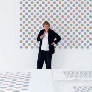 Bridget Riley in her London studio