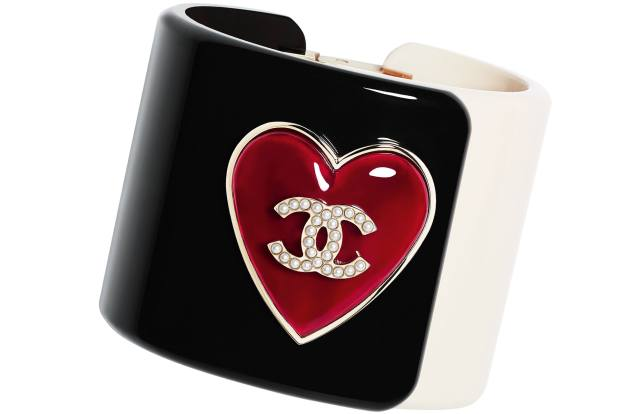 Chanel resin and strass cuff, £1,325