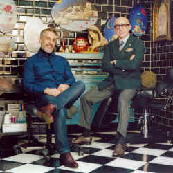 MoCoppoletta and Franck Bonnet at The Family Business Tattoo in London