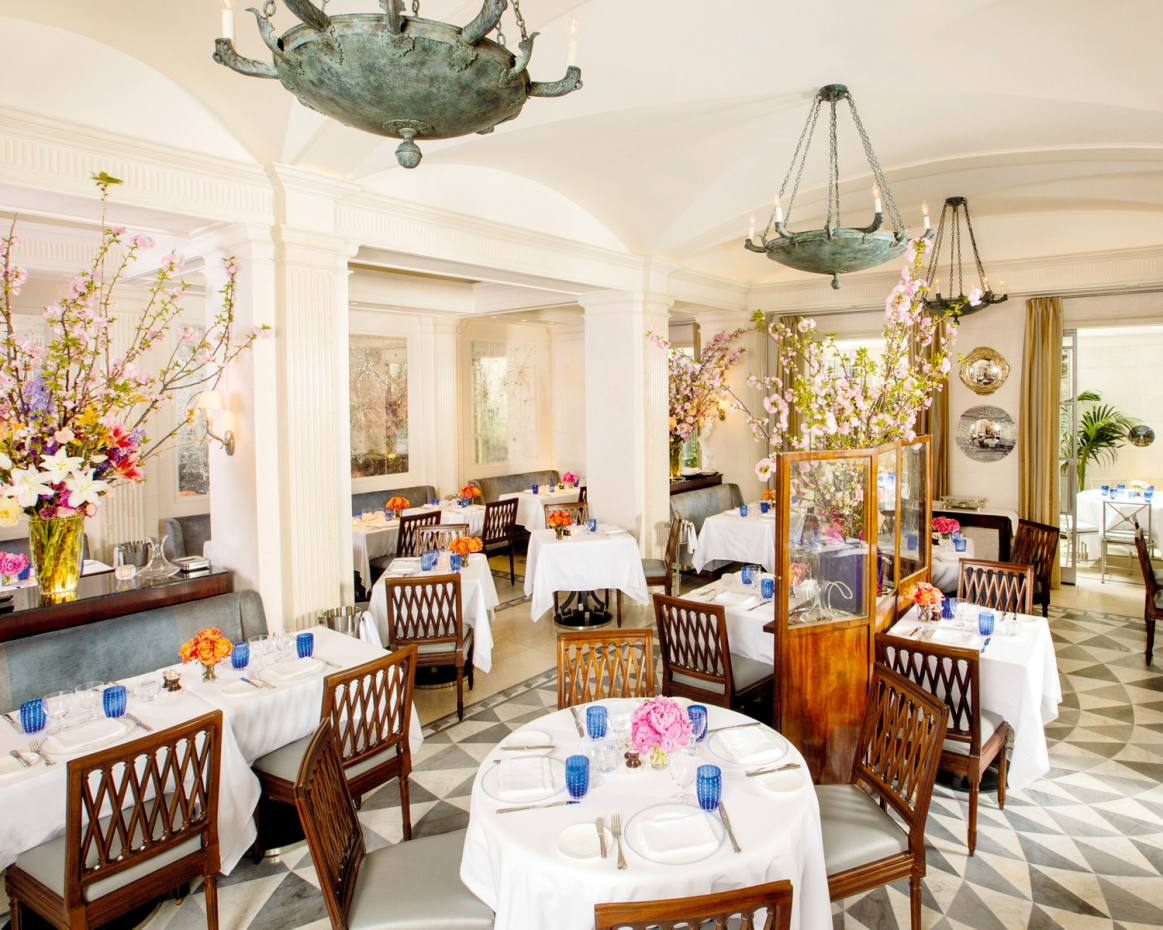 The dining room in Charles Masson's Majorelle at The Lowell