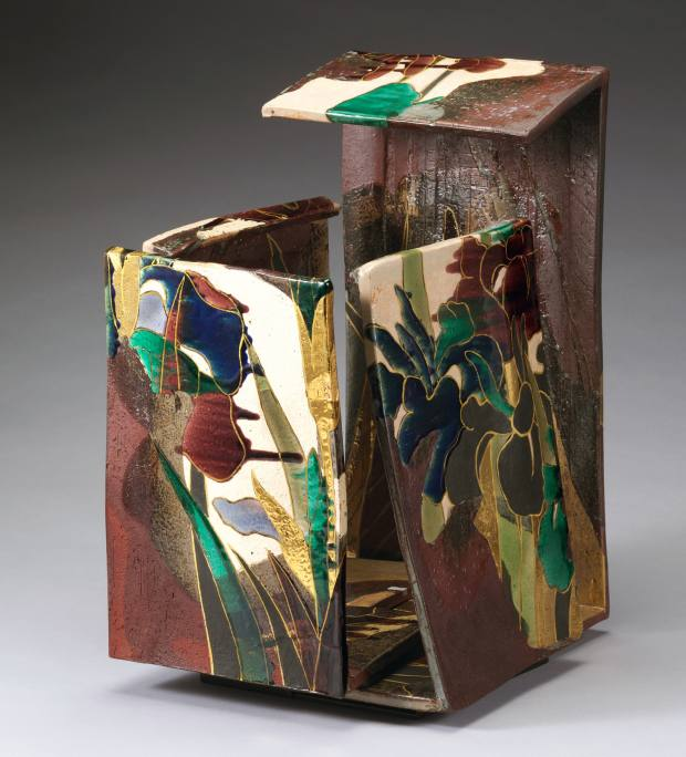 One of Nakamura Takuo's stoneware sculpted plaques, $17,000