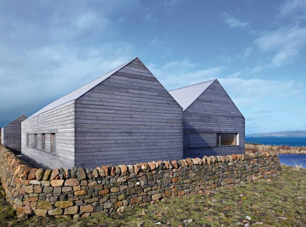 The exterior of Dominic Houlder's home on the Isle of Skye, Scotland, by Dualchas's Mary Arnold-Forster