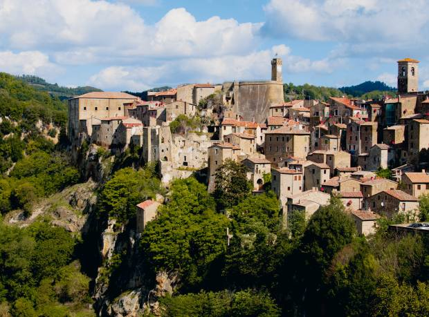 The Etruscan town of Sorano