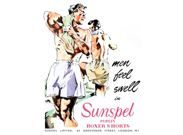A 1949 Sunspel underwear advertisement from the Long Eaton archive