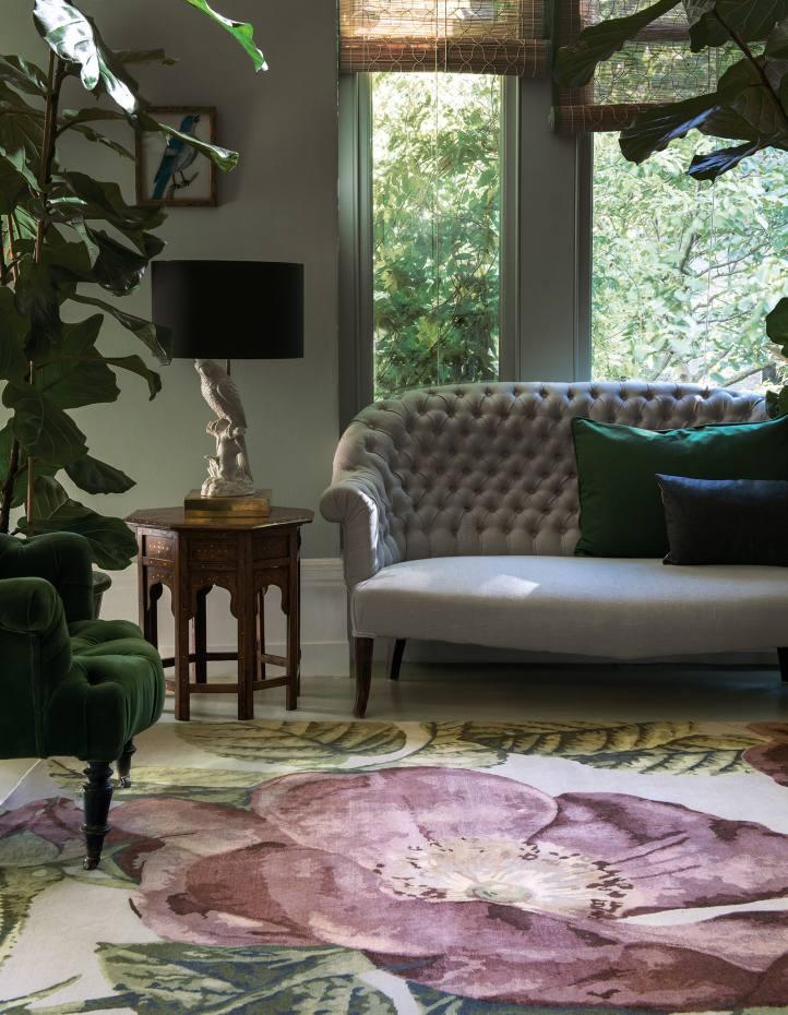 The Rug Company wool Vivienne's Rose Dust rug by Vivienne Westwood, £985 per sq m