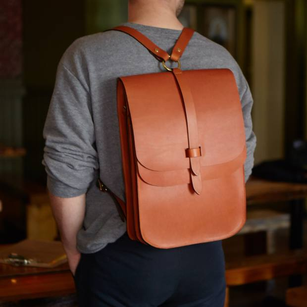 Lost Property of London leather Arlington rucksack, £398
