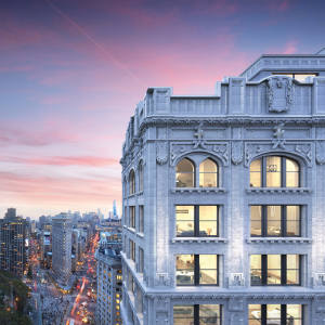 The triplex Crown penthouse atop 212 Fifth Avenue in New York