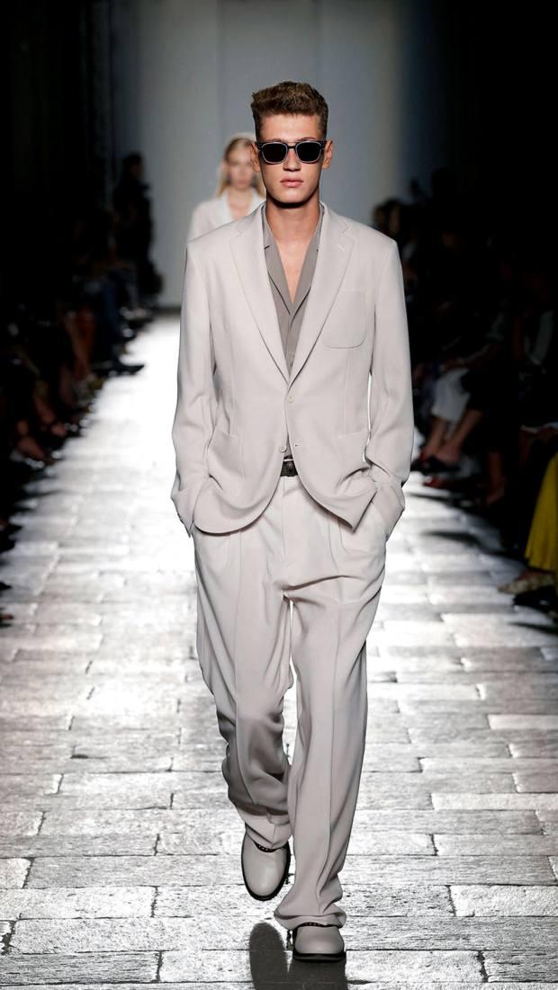 Bottega Veneta silk jacket, £1,560, and matching trousers, £620