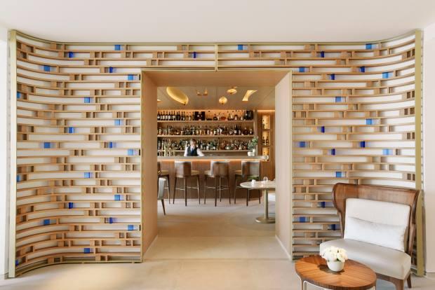 The bar at the Résidence de la Pinède