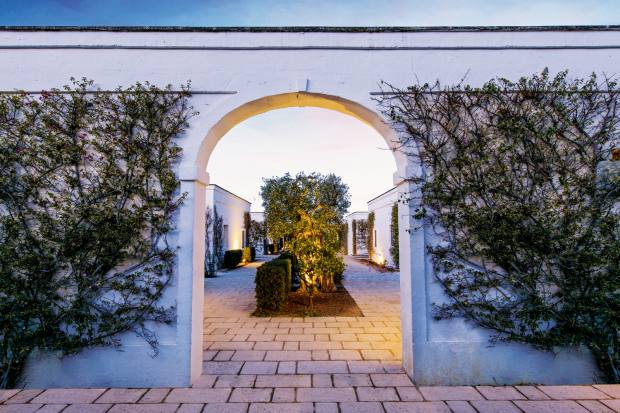 The entrance to the five-star Masseria Torre Maizza