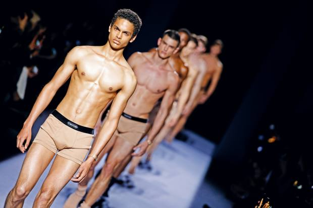 Tom Ford's men's underwear is likely to arrive in store in the autumn