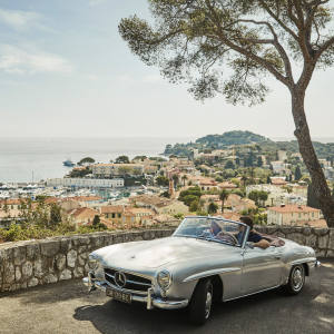 Guests at three Four Seasons hotels can take in the sights of the French Riviera and Italy from behind the wheel of a classic car this summer