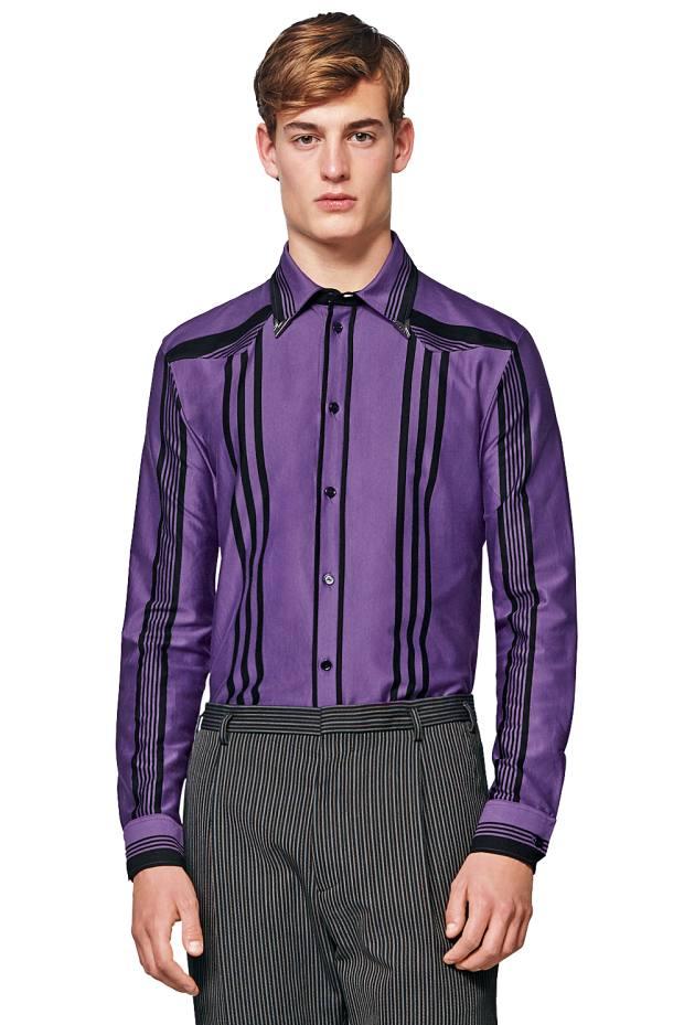 Bottega Veneta cotton Nero shirt with metal collar tips, £535