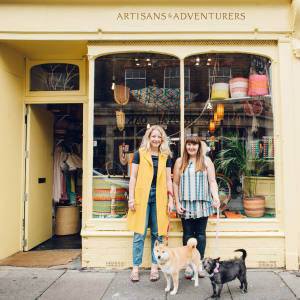 The Artisans & Adventurers team: Amy Fleuriot (left) and Bee Friedman (right)