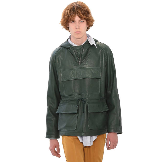 Kent & Curwen leather Deacon cagoule, £995