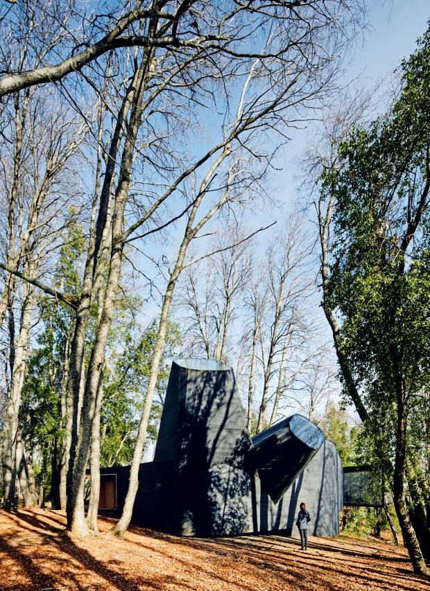 """The periscope shape of Smiljan Radic's Chilean home isinspired by the Chilean """"picoroco"""" barnacle"""