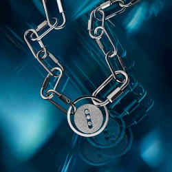 Messika white-gold and diamond Lucky Move Carabiner Necklace, £42,600