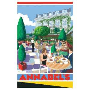 Pullman Editions' new art deco-inspired print depicting the new outdoor space at Annabel's, £395, edition of 300