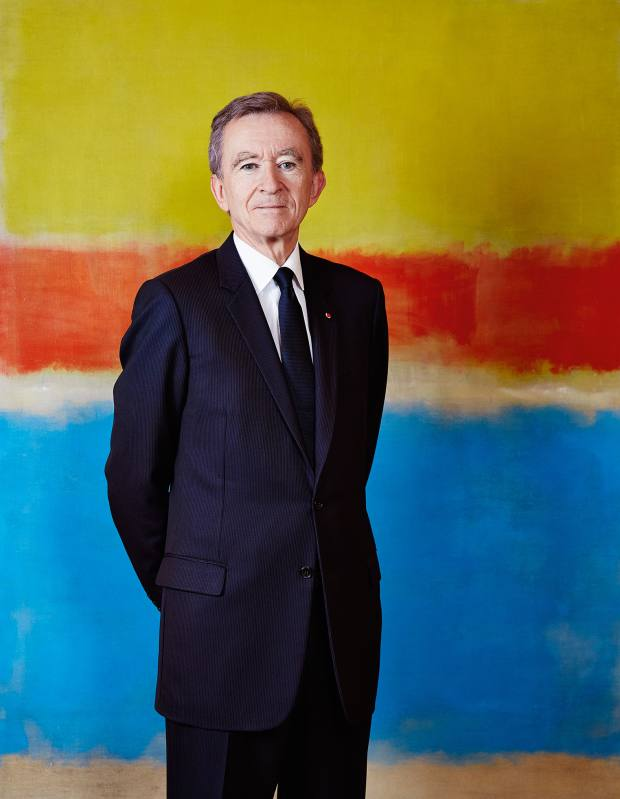 Bernard Arnault pictured with his Rothko painting