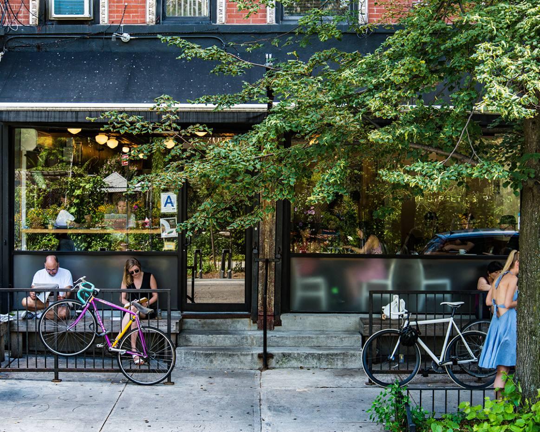 The original Ninth Street Espresso café in New York's East Village