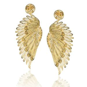 Tres Almas 24ct-gold-plated Anjo Wings earrings ($286)