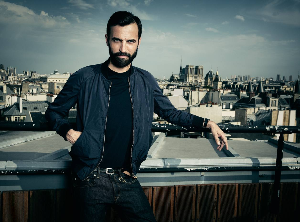 Artistic director at Louis Vuitton Nicolas Ghesquière on the roof of the Louis Vuitton headquarters in Paris