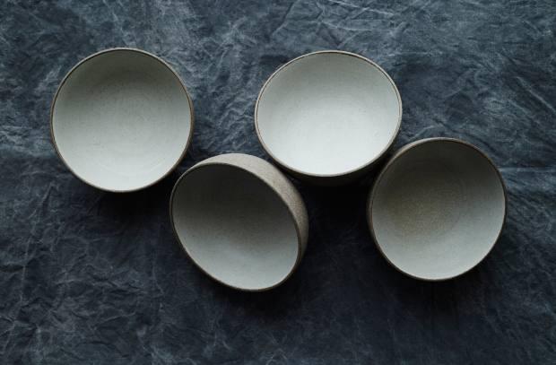 KH Würtz set of four glazed ceramic bowls, $300-$500