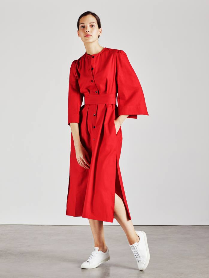 Cotton Raminta shirt dress in red, £260