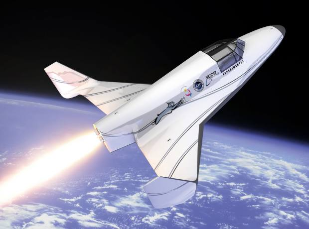 Artist's impression of the XCor craft